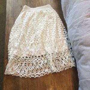 Gorgeous white lace skirt